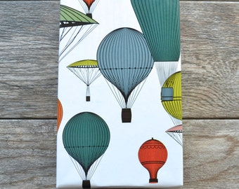 SALE - Vintage Hot Air Balloons Wrapping Paper, 2 Feet x 10 Feet
