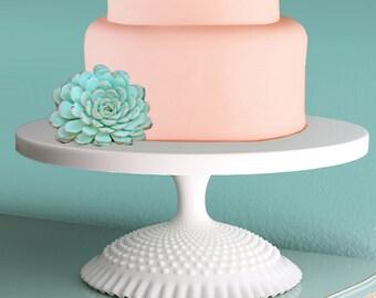 "20"" Wedding Cake Stand for Custom Wedding Cakes / Milk Glass Wedding Centerpiece / Wedding Decor / Vintage - Inspired by The Roche Studio"