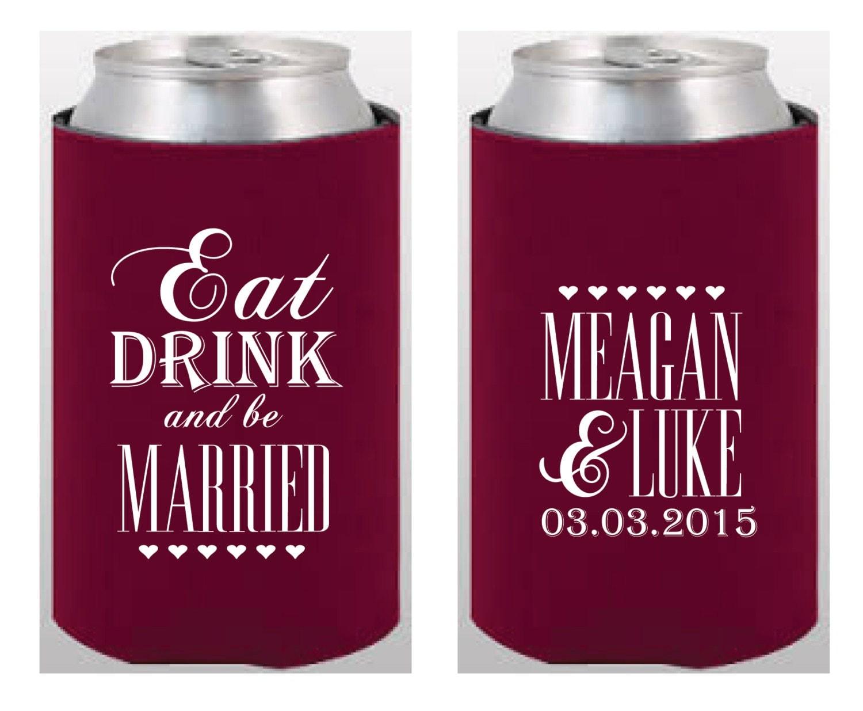 Neoprene koozies wedding