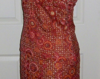 Vintage Ladies Silk Blend Skirt Set 2 Piece Dress by Etcetera Size 2 Only 6 USD