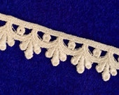 30% off while supplies last!  Venice Lace 5/8 inch wide Ivory - 5 Yard Packages