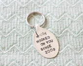 Hooked on you Since - Anniversary Year - Keychain - Gifts for Men - Fishing - Fisherman - Anniversary Gift