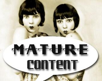 MATURE... Sexy Fetish Fantasy... Instant Digital Download... Vintage Erotic Fetish Photograph... Vintage Nude Photo