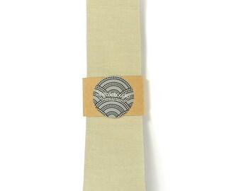 Sand khaki necktie - Wedding Mens Tie Skinny Necktie organic cotton- Laid-Back necktie