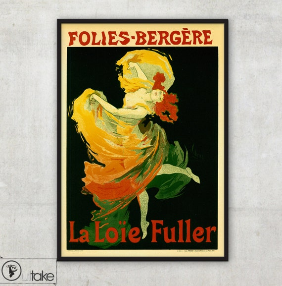Beautiful Era vintage style poster by Cheret Jules, P059