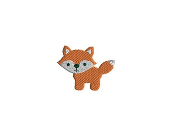 Mini Fox Machine Embroidery Design-INSTANT DOWNLOAD