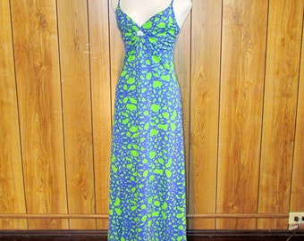 On Sale-Keyhole HAWAIIAN MAXI Dress