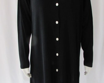 Vintage 80's FENDI light weight knit coat or dress Banlon type knit LARGE