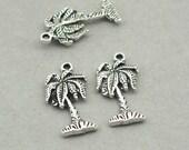 Palm Tree Charms Antique Silver 8pcs zinc alloy beads 11X22mm CM0872S