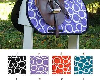 MADE TO ORDER Big Circles Print Saddle Pad Many Colors