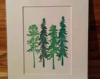 Four tree prints