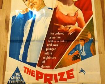 "Prize,The. Original Australian 40""x78"" 3-sheet Theater Movie Poster.Paul Newman,Elke Sommer,Edward G. Robinson,Diane Baker, Kevin McCarthy"