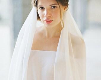 Cathedral length Silk Chiffon Veil, Bridal Veil, Wedding Veil, Romantic Veil -Style 1815 'Guinevere' MADE TO ORDER