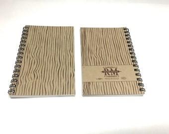 Wood Grain Wire-Bound Notepads