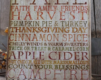 FALL HARVEST subway sign country decor pumpkin pie thanksgiving day rustic decor fall decor halloween decor Montana made wood signs