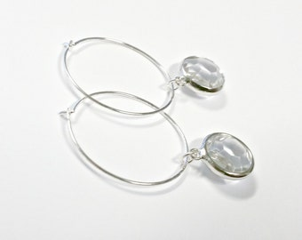 Darling Crystal, Hoop-Dangle Earrings