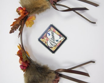 Fall Cat Ear Headband- Lolita cat Headband- Lolita Headband- Lolita Accessories-Cosplay-Kawaii- Fairy Kei