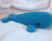 Crocheted Big Whale Buddy