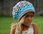 Crochet Kids Hat, slouchy beanie, hat for girls, girls hat, boys hat