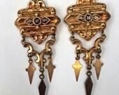 Victorian Gold Filled Chandelier Earrings
