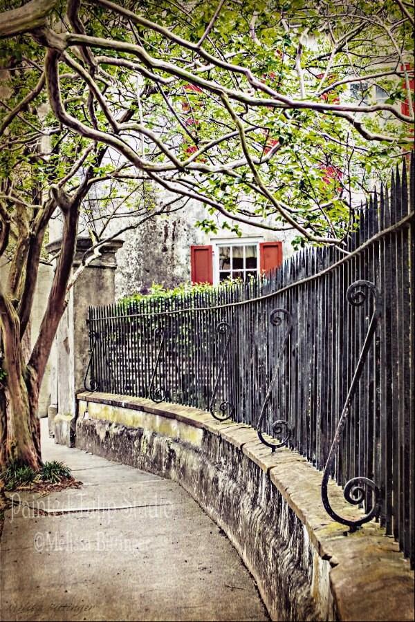 Historic charleston south carolina antique wrought iron fence for Charleston style fence