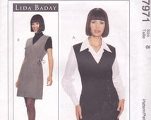 Lida Baday Wrap Front Jumper & Blouse Pattern McCalls 7971 Size 8 Uncut