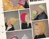 Patons Family Hats, Beanies, Mittens, Scarves- Knitting Pattern No 942 Vintage 1970s Original Pattern