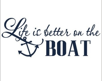 Boat Wall Decal Etsy - Decals for boats canada