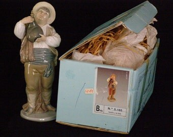 """Lladro """"Sancho with Leather Bottle"""" A Toast by Sancho, Glazed 5165 RETIRED 1990 Mint w/Box"""