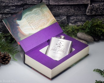 Hollow Book Safe and Felix Felicis, Polyjuice, Amortentia, or Veritaserum Flask - Harry Potter and The Goblet of Fire