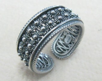 Sterling silver 925 filigree  open ring