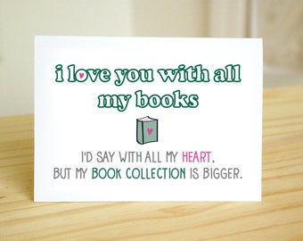 Big Book Collection - Funny, Nerdy, Dorky Anniversary Love Card