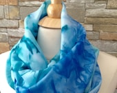 Hand Painted Silk Scarf, made in Montreal