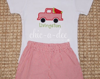 Personalized Watermelon Truck Shirt + Coordinating Bottoms