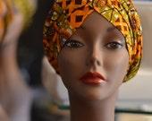PREMADE AFRICAN PRINT Ankara turban hat - Handmade Perfectly Pre Sewn African Print Turban Ankara Cap head wrap gele cap - Pret-a-Porter