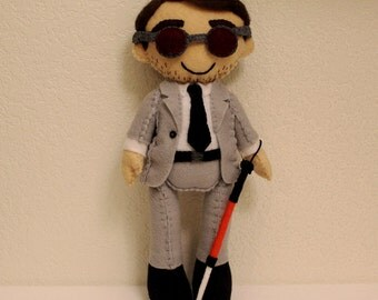 Daredevil Matt Murdock Inspired Felt Doll