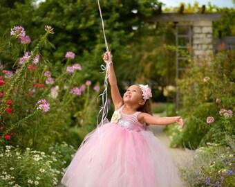 Tutu Dress Pink & Ivory Baby Girls Tutu Dress Toddler Tutu Dress Flower Girl Tutu Dress Pageant Tutu Dress Tutu Dress