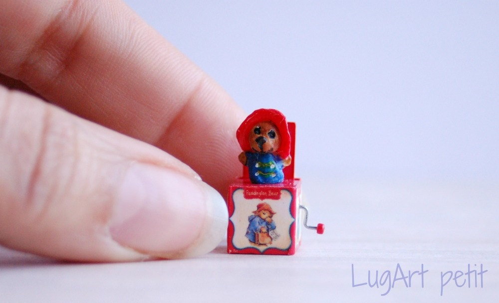 RESERVED FOR DIANE Jack in the box. Paddington Bear by LugartPetit