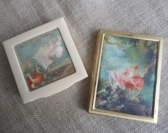 Vintage Compacts Pair for Creative Use Treasure Boxes