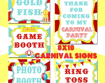 Carnival Signs- Printables