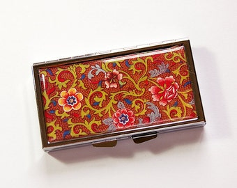 7 day pill box, Venetian pill case, Brown, Pill case, Pill Container, 7 sections, 7 day, Pill Box, Venetian Design, Venetian Print (4976)