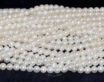 "Freshwater Pearl White 6.5-7mm Round - 16"" Strand"