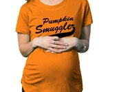 Pumpkin Smuggler Adorbale Halloween Maternity T-Shirt new baby,present for mommy,baby shower gift for expecting mother,pregnancy tee S-2XL