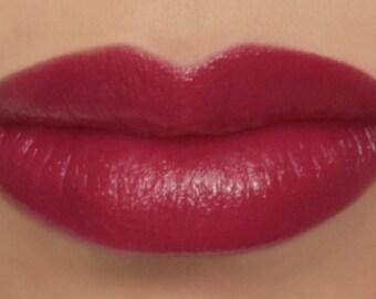 "Vegan Lipstick - ""Geranium"" (bright raspberry pink lipstick) natural lip tint, balm, lip colour mineral lipstick"
