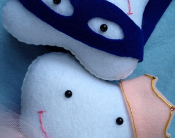 Handmade Tooth Fairy Friend Tooth Pillow Fairy Princess or Super Hero