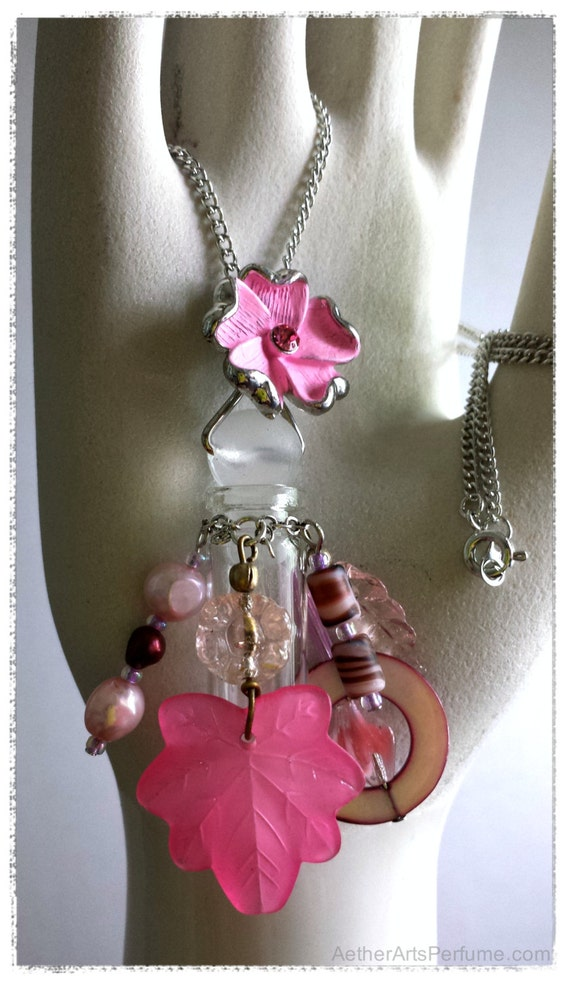 Spring Blossom Scent Necklace:  Take your favorite perfume with you!