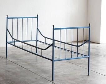Vintage Industrial Steel Bed Frame, 1920s
