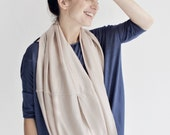 tube scarf, wedding accessory, bridesmaid shawl, nude, smoke rose