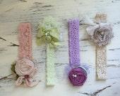 Baby Girl Headband- Newborn Headband- Flower Girl Headband-Baby Headband-Lace Baby Headbands-Bows-Cream Headband-Baby hair Bows