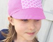 Girls Summer Cap, Baseball Cap for Girls, Helmet Cap for Girls, Brim Hat Girls, Toddler Summer Hat, Biker Hat for Girls, Girls Bike Cap